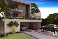 projeto casa sobrado terreno 13×30 aclive piscina fachada moderna bragança paulista