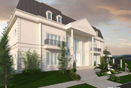 fachada neoclássica sobrado estilo francês