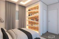 projeto decoração design apartamento industrial urbano ambientes jovens reservatto limeira