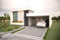 projeto casa terrea moderna fachada contemporanea tereno 12×25 condominio 3 suites piscina