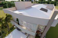 projeto arquitetura sobrado moderno linhas curvas swiss park campinas 12×30 300 metros