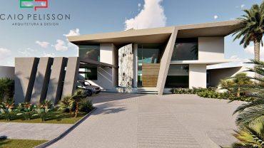 projeto casa moderna futurista em condominio