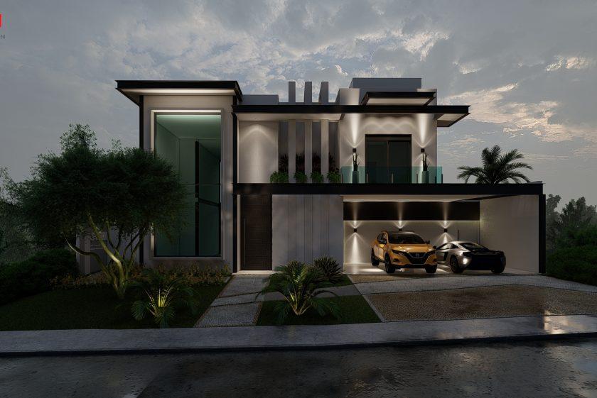 Construir Casa Moderna  estrutura metalica condominio