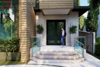 projeto salao festas buffet fachada moderna reta vidro camacari bahia
